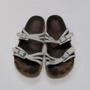 Birkenstock White Sandals Size 37